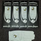 4x Pack Cabretta Leather Golden Eagle Golf Glove Right Hand Large