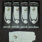 New 4 Pack Cabretta Leather Golden Eagle Golf Glove Ladies Medium