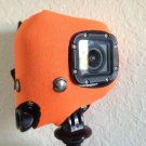 Fluorescent orange floating cover for GoPro hero 3 Floating surfing cover