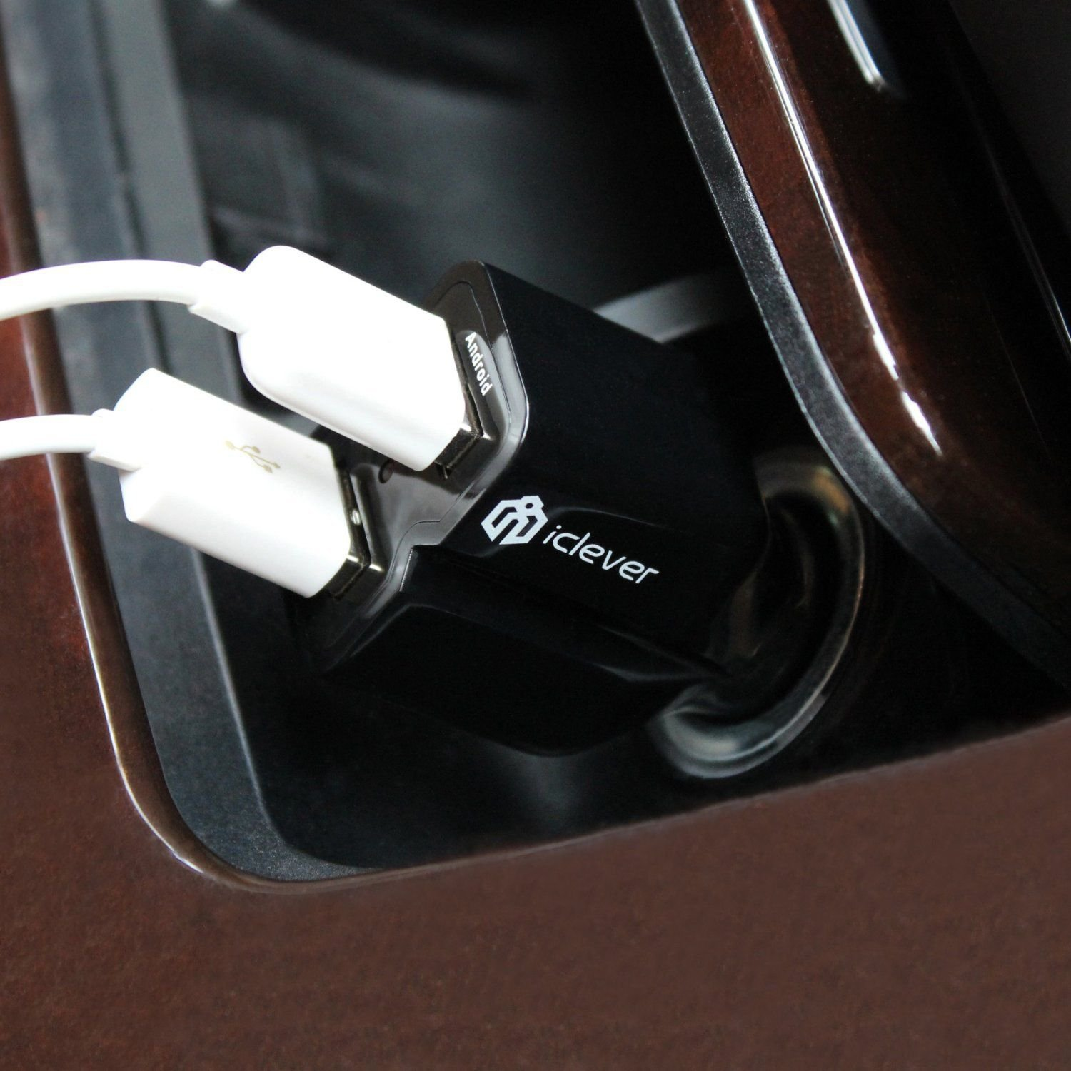 Fast Charging iClever 21W 4.2A 2 USB Car Charger For Apple Android Phone Tablet