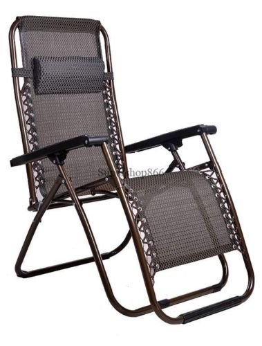 New Zero Gravity Chairs Outdoor Folding Set Lawn Seat Patio Pool Camping Deck Beach