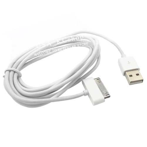 2PC New 6 FT Data USB Charger Cable Cord for iPhone 4 4S iPod I pad 2 3