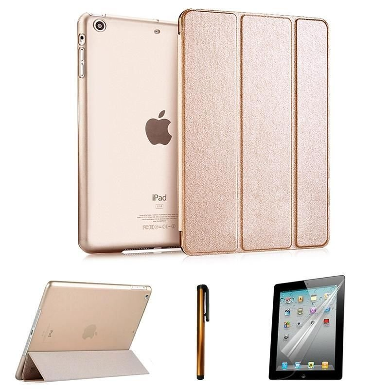 Ultra Slim Magnetic Smart Cover Hard Back Case Sleep Wake for iPad Air Mini
