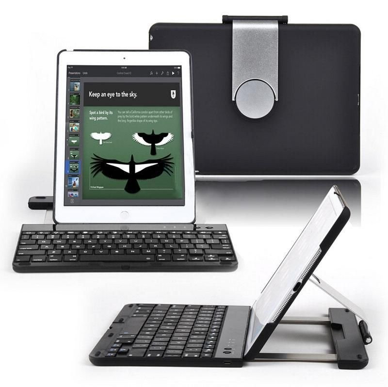 Wireless Bluetooth Keyboard 360 Swivel Rotating Stand Case Cover for iPad Air 5