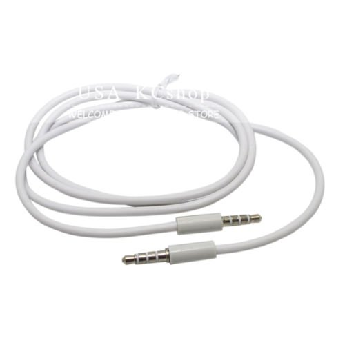 3PC White 3.5mm Car Audio Stereo Aux Extension Cable For Apple iPhone 5S 5G 5C