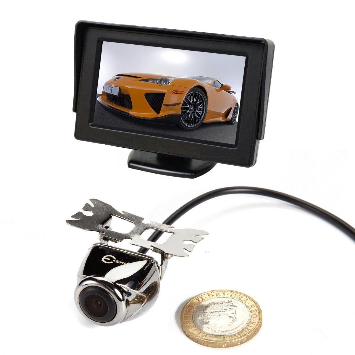 Universal Car RearView Backup Reverse Camera Night Vision 4.3 TFT LCD Monitor