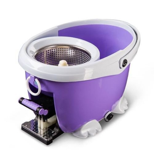 New Ohuhu 360°Easy Clean Floor Mop Bucket 2 Extra Heads Microfiber Spin Rotating