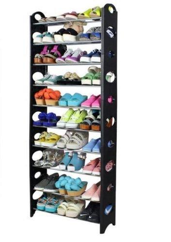 10 Tier Shoe Rack Tower Closet Organizer Holder Free Standing Stand Space Saving