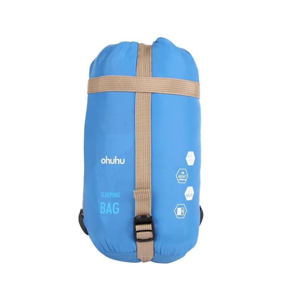 Ohuhu Outdoor Travel Hiking Envelope Sleeping Bag Camping Multifuntion Ultra-lig