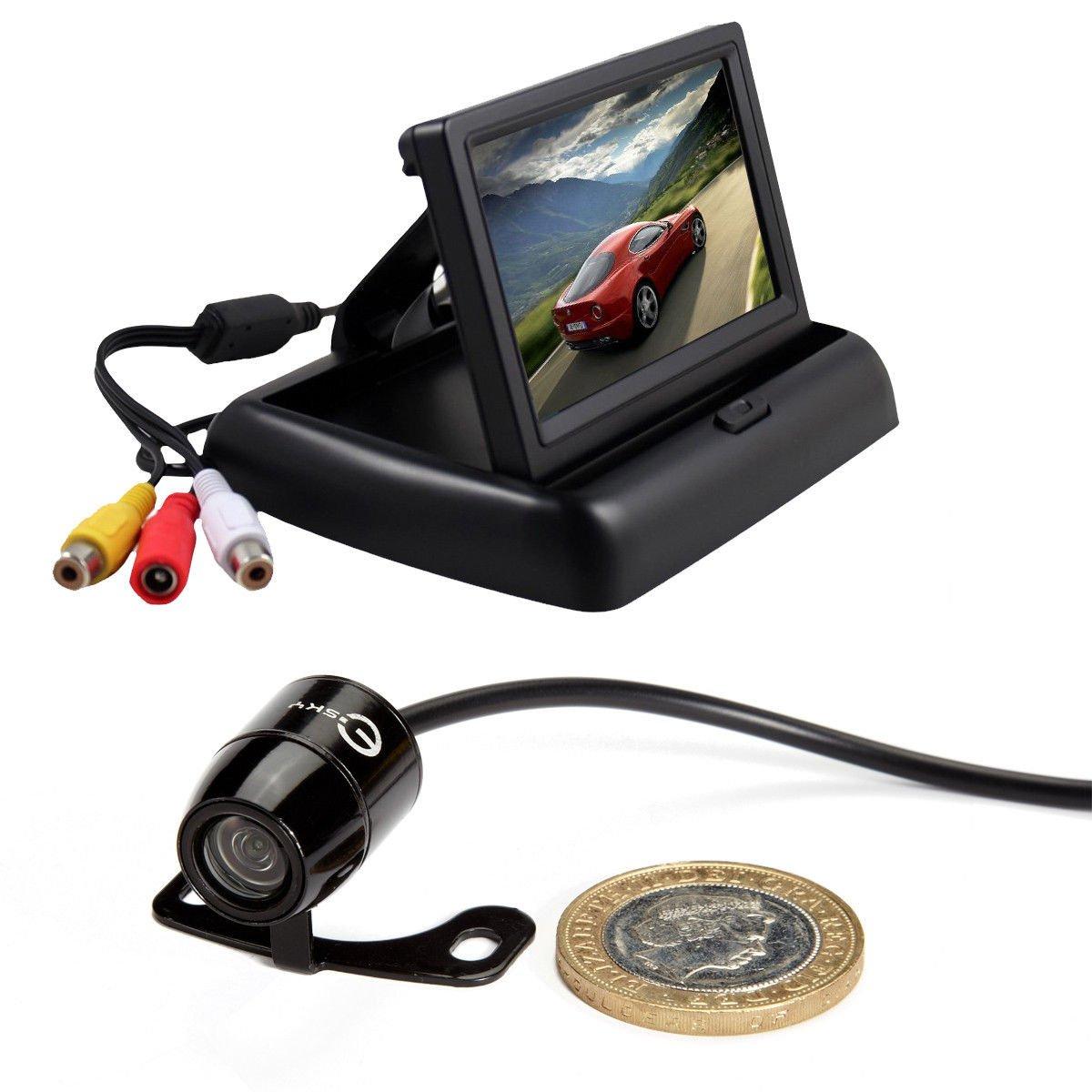 r TFT LCD Monitor Waterproof Reverse Car Rear View Backup Camera Kit 170°