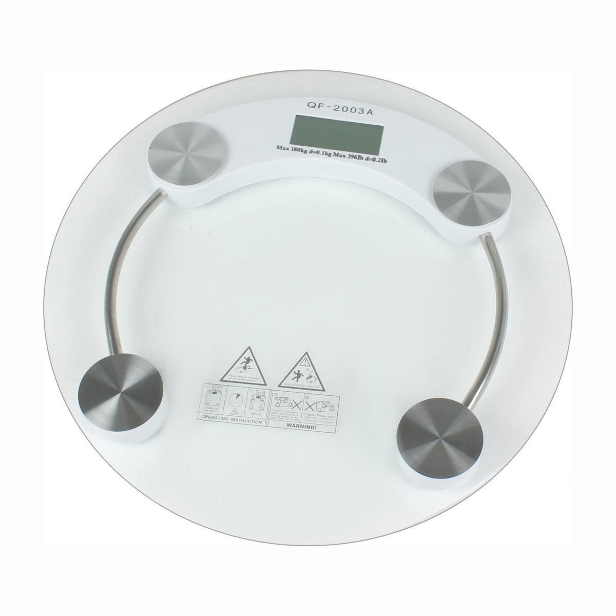 New 180KG Digital Glass Body Scale Bathroom Weight Scale 396lb