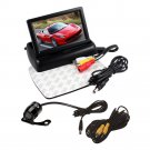 4.3 TFT LCD Monitor Car Rear View System Backup Reverse Night Vision Camera