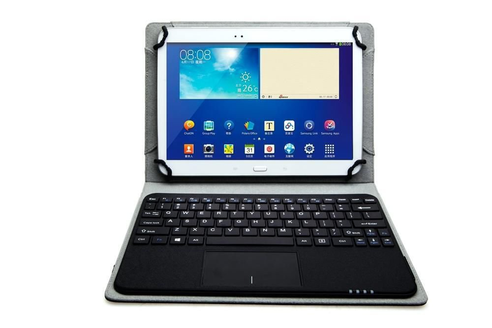 Removable Bluetooth Keyboard Case Touchpad For 9-10 inch Android IOS Windows