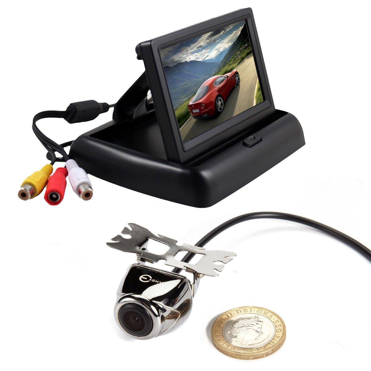 4.3 Car TFT LCD Fodable Base Monitor Reverse Car Rear View Backup Camera Kit