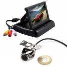 4.3 Car TFT LCD Fodable Base Monitor Reverse Car Rear View Backup Camera Kit