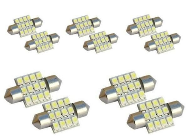 10 x New White 31mm 12smd Led Footwell Interior LED Underdash Light Bulbs Smd