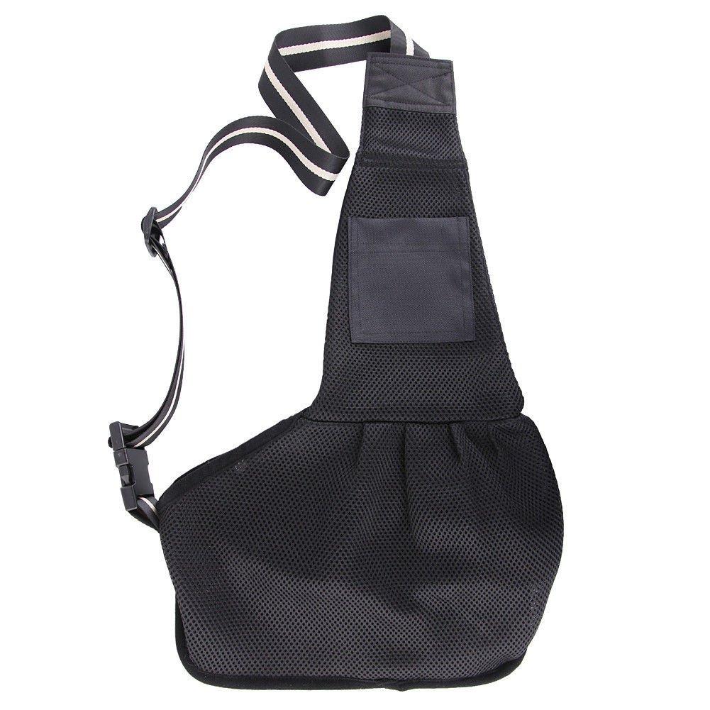 New Black Pet Dog Bag Cat Single shoulder Sling Stroller Carrier Tote Pouch