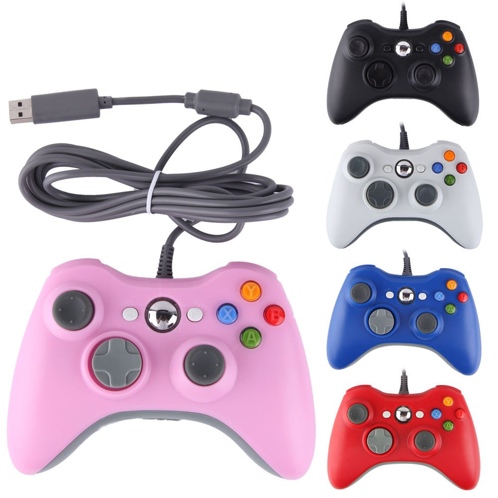 New Wired USB Game Pad Remote Controller For Microsoft Xbox 360 & PC Windows