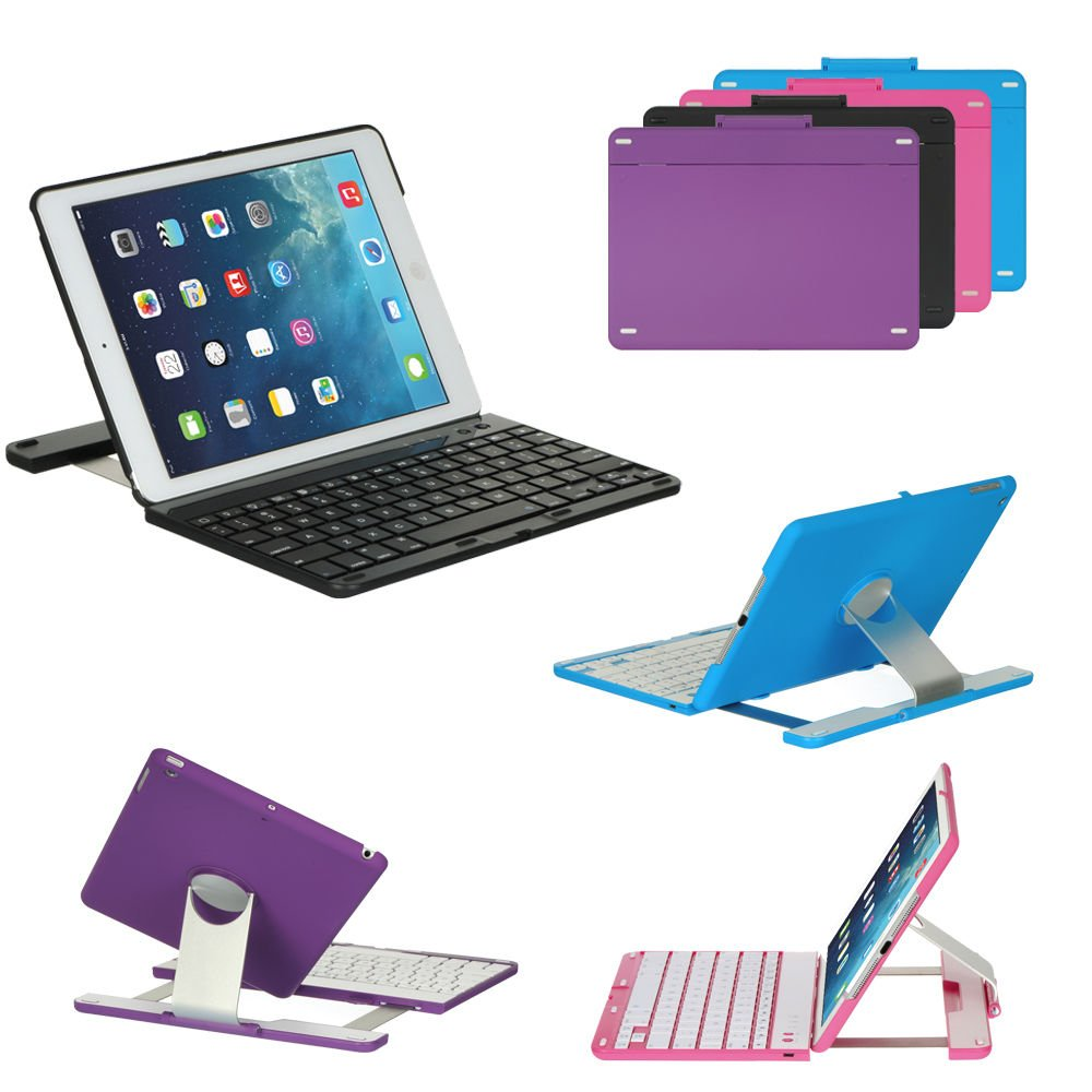 New Cover Case with Swivel Rotary Stand Bluetooth Wireless Keyboard for iPad air 5