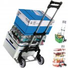 New Cart Folding Dolly Push Truck Hand Collapsible Trolley Luggage Aluminium