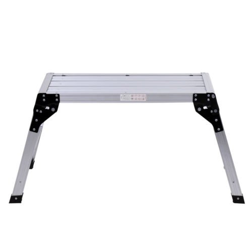 New HD EN131 Aluminum Platform Drywall Step Up Folding Work Bench Stool Ladder