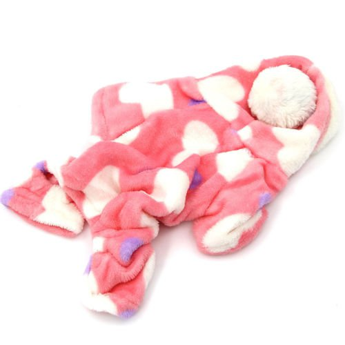 New Pink Adorable Sweetie Dog Coat for Dog Hoodie Jumpsuit Soft Cozy Pet Clothes