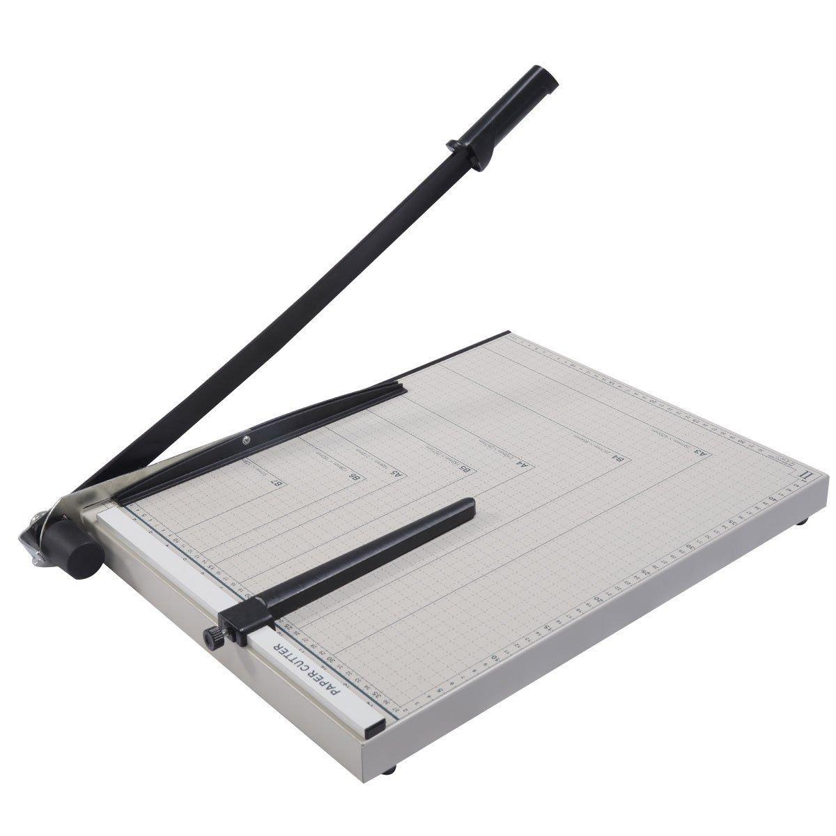 8 inch Sturdy Metal Base Paper Cutter Trimmer Scrap Booking Guillotine 18x15
