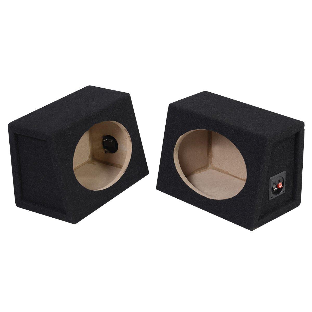 Pair Of Stereo Car Audio 6X9 Wedge Speaker Universal 6 x 9 Enclosure Boxes