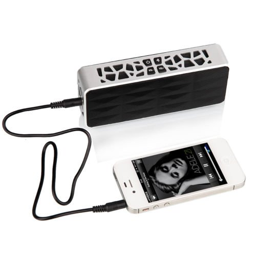 New Silver Wireless Bluetooth Music Box For Sound Dock iPod iPhone Speaker