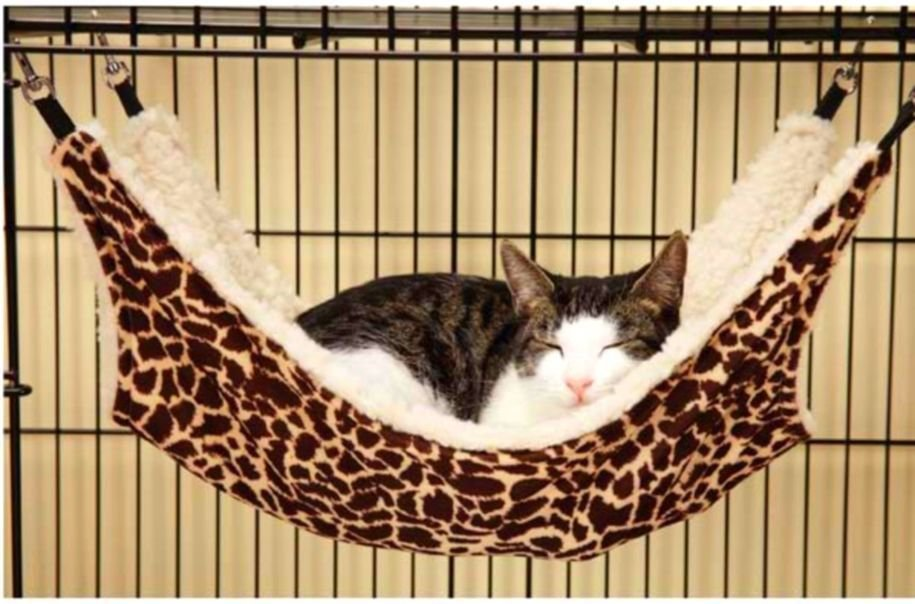 Cat Secure Hammock Kitten Sleep Toys Cradle Fleece Cage Cover