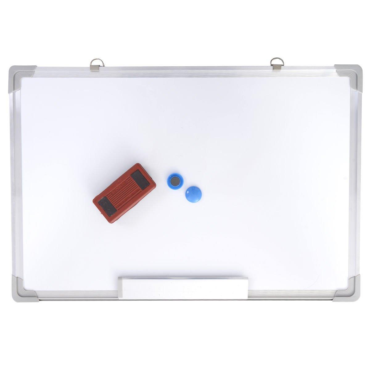 24x16 Single Side Magnetic Writing Whiteboard Dry Erase Board Office Eraser