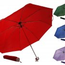 42 inch Portable Compact Mini Folding Umbrella Sleeve Red Green Blue Purple