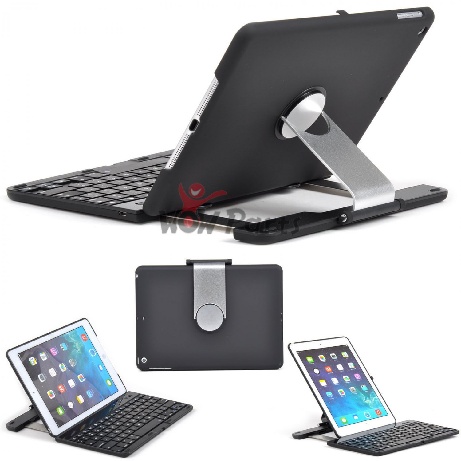 Wireless Bluetooth Keyboard PU Leather Rotating Stand Case For Apple iPad Air