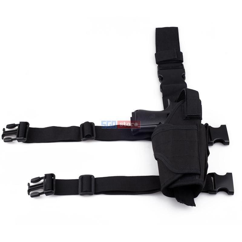 Adjustable Waterproof Tactical Puttee Thigh Right Leg Pistol Gun Holster Pouch