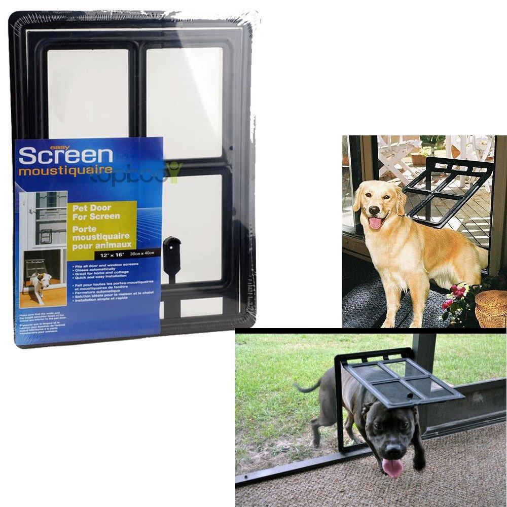 New Medium Pet Dog Cat Door for SCREEN FOR pets 12 x 16 Lockable