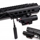 CREE Q5 300 Lumen LED Flashlight Red Laser Sight For pistol gun 20mm rail