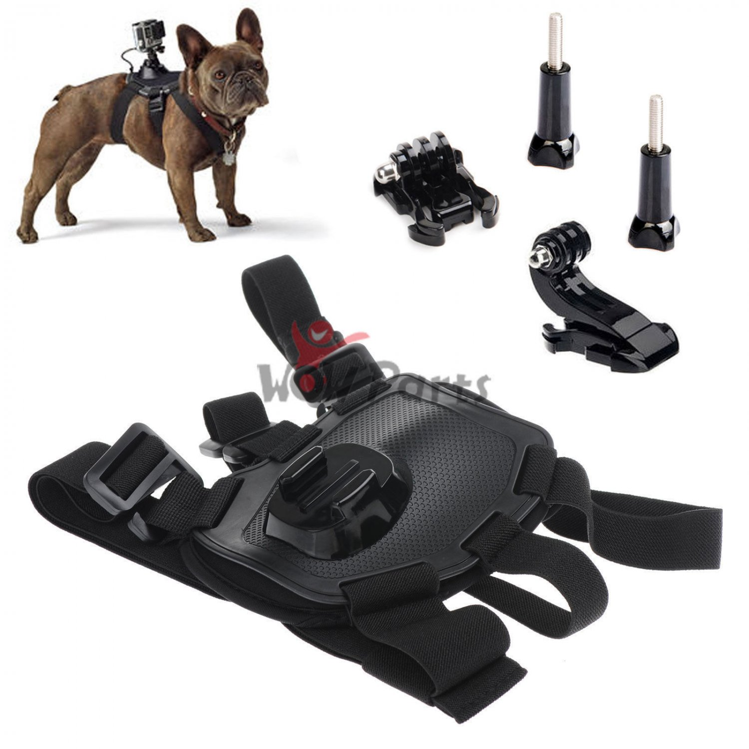 New Dog Hound Pet Harness Chest Back Mount for GoPro Hero 2 3 4 Camera
