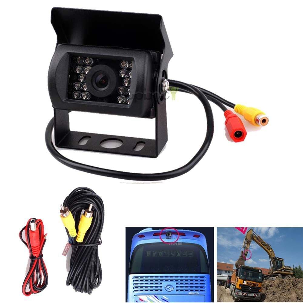 18 IR LED Night Vision Car Rear View Reverse Backup Parking Camera Waterproof