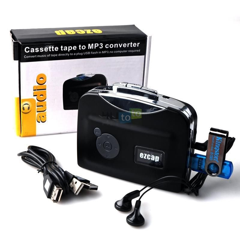 Tape to PC USB Super Cassette to MP3 Converter Capture Audio Music Player