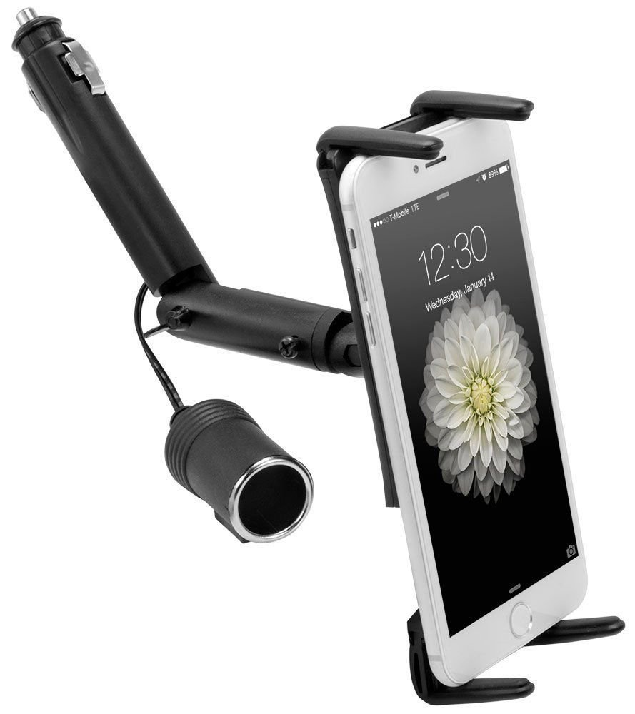 Lighter Socket Car Mount for Samsung Galaxy Note Edge, Note 4 3 & iPhone
