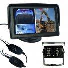 4.3 LCD TFT Monitor,Wireless Car Bus Rear View Reversing System IR Camera Kit
