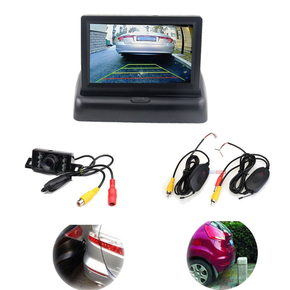 New Car Fordable Rear View Monitor Wireless Reverse Backup Camera