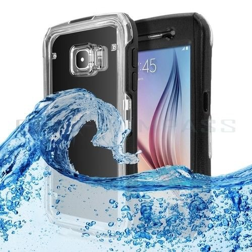 New Waterproof Shockproof Dust Sand Proof Case Samsung Galaxy S6 Edge Black