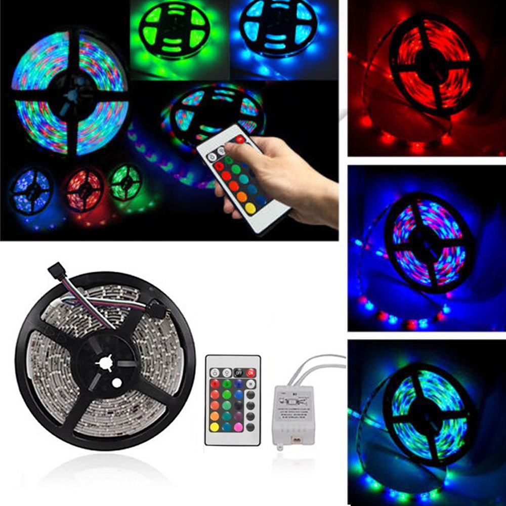 RGB LED Strip Light Tape and 24 Key Remote Power Supply