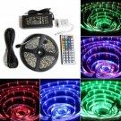 5M SMD RGB 5050 Waterproof LED Strip light 300 44 Key IR Remote 12V 5A power