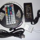16.4FT 5M 5050 RGB SMD LED Waterproof Flexible Strip 300 LEDs 44 Key IR Remote