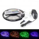 Waterproof 5M RGB 3528 SMD 300 LED Flexible Strip Light & IR Remote & 12V Power