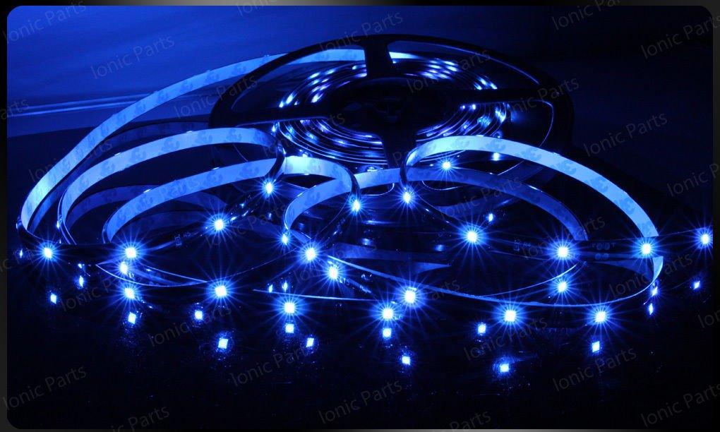 Blue 5m 3528 5050 SMD LED 600 LEDS Waterproof Flexible Light Strip Roll12V