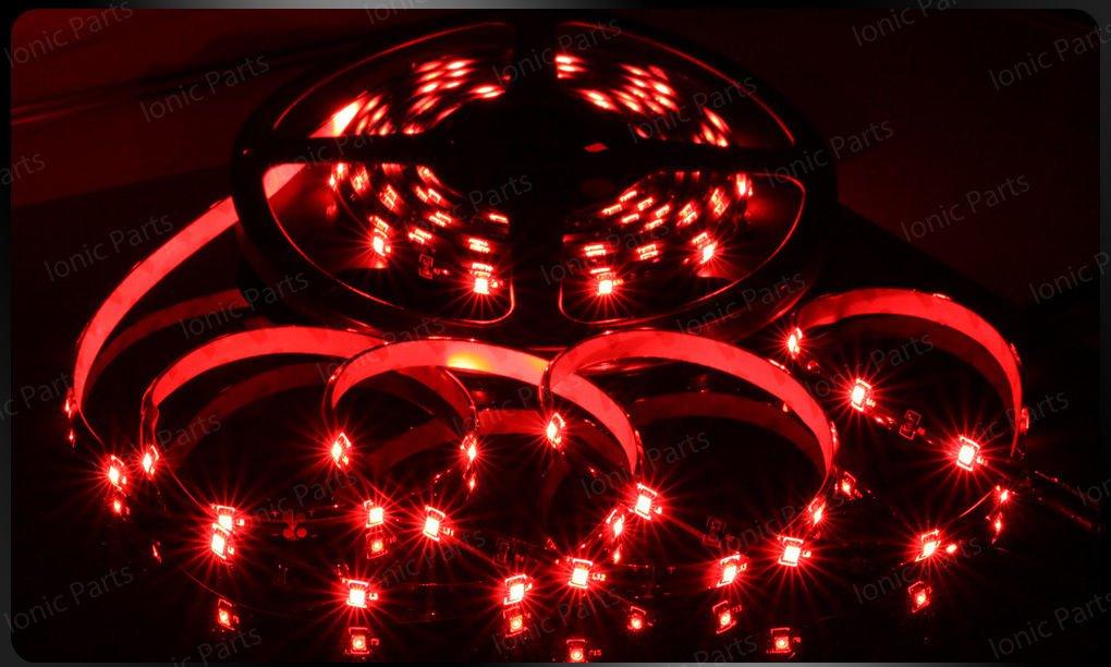 Red 5m 3528 5050 SMD LED 150 LEDS Waterproof Flexible Light Strip Roll12V
