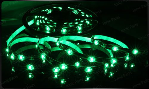 Green 5m 3528 5050 SMD LED 150 LEDS Waterproof Flexible Light Strip Roll12V